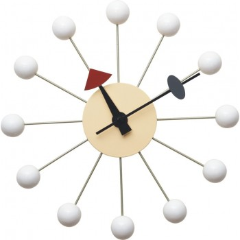 NELSON CLOCK WHITE