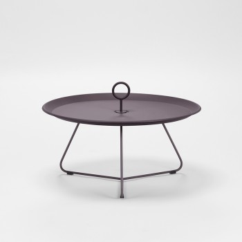 EYELET SIDE TABLE OUTDOOR PLUM DIA 70 CM