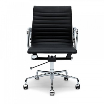RIBBED LOW BACK OFFICE CHAIR IN PU